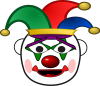 Jester Clown clipart - Creazilla - Joachim Son-Forget